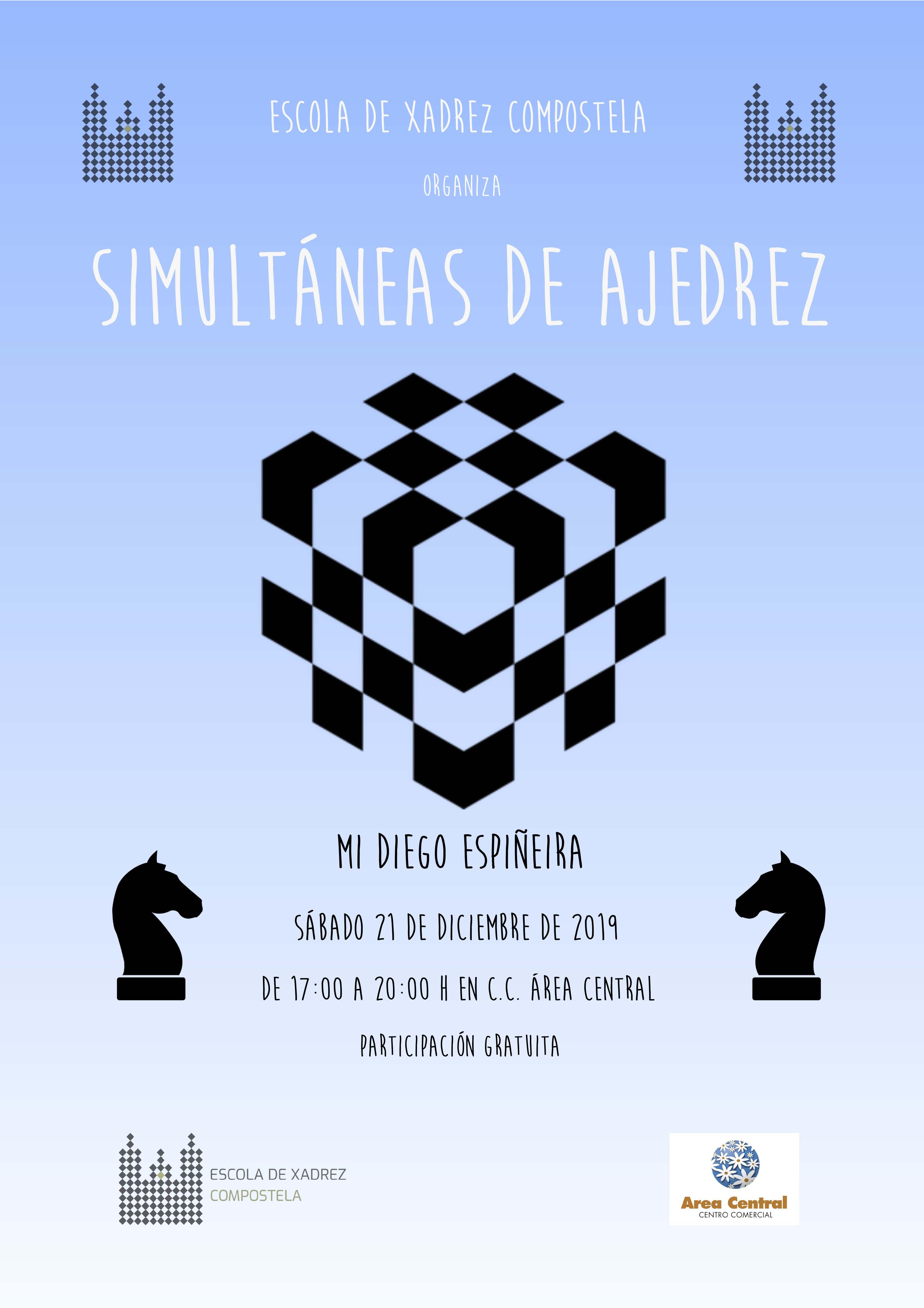 SIMULTÁNEAS DE XADREZ CON DIEGO ESPIÑEIRA