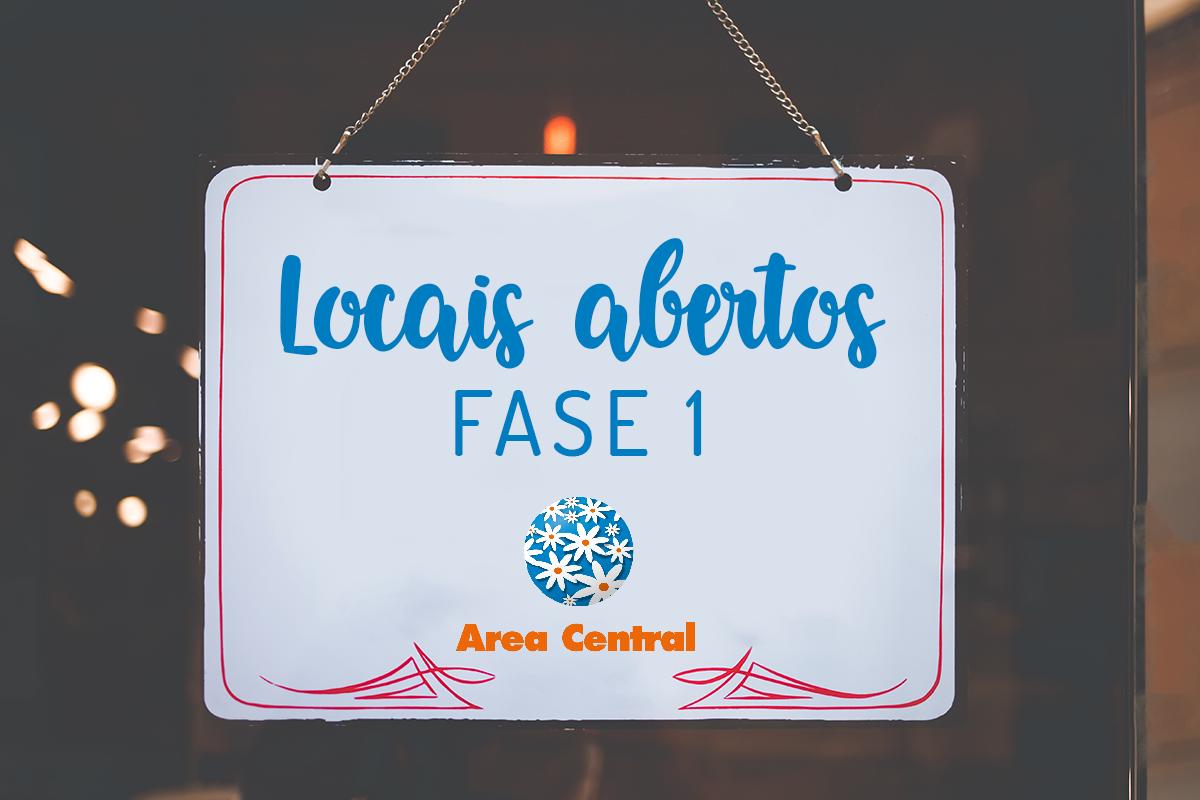Listado de comercios que podes atopar abertos en Area Central – Fase 1