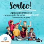 Sorteo de dúas prazas dobres para o campamento monky camp para a semana do 3 ao 7 de agosto