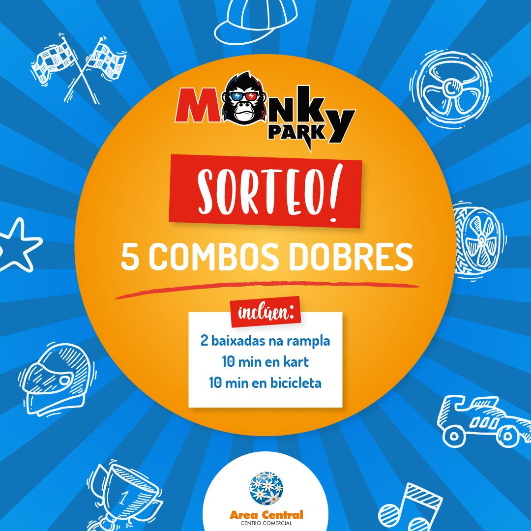 SORTEO DE 5 COMBOS DOBRES PARA MONKY PARK