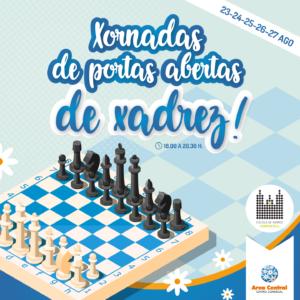 Área Central colabora de novo coa Escola de Xadrez Compostela nunhas xornadas abertas que amenizarán as tardes da vindeira semana
